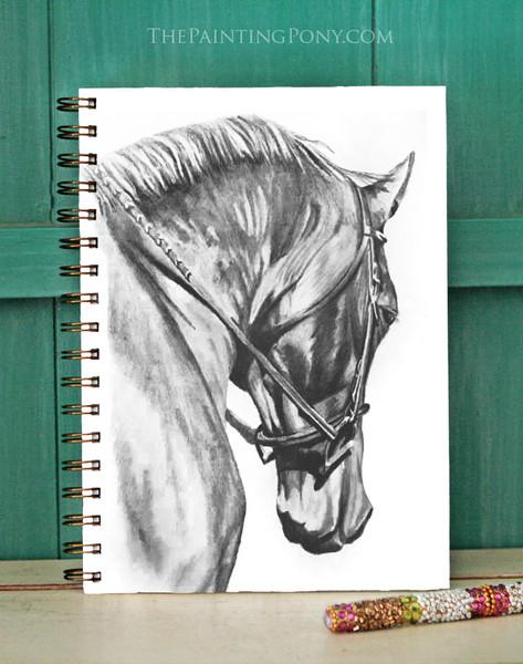 Horse Head Art Bullet Journal