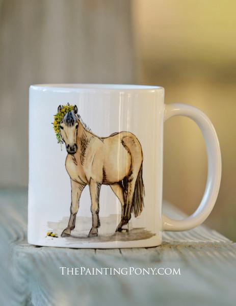 Cute Buckskin Pony Pony Equestrian Coffee Mug