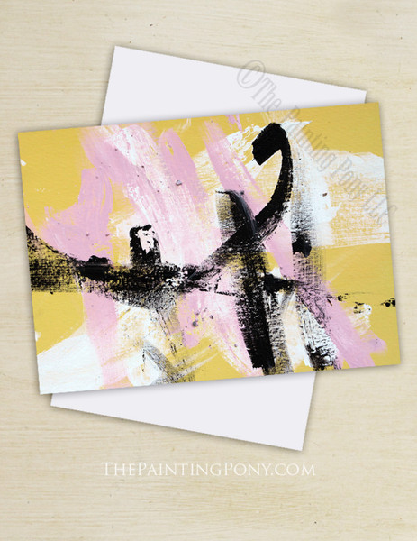 "Abstract Horse Art ""Painting 100 The Dance"" Note Cards"
