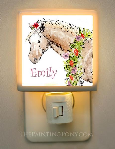 Personalized Pony Night Light