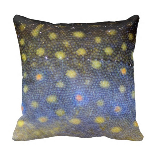 Brook Trout Scales Throw Pillow