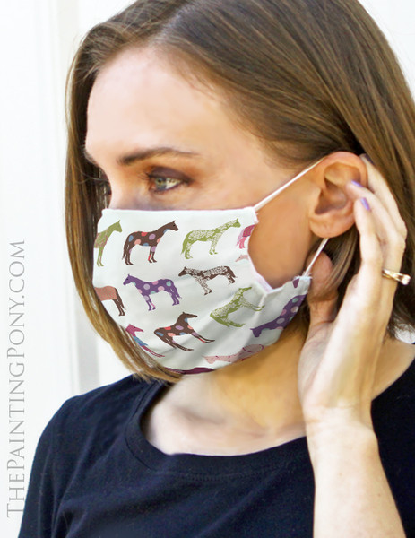 Fun Horse Pattern Equestrian Face Mask Coverlet