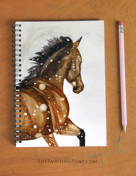 Winter Gallop Horse Lover Spiral Notebook