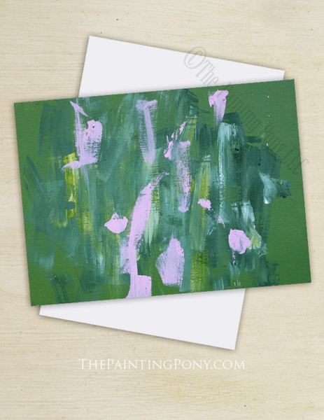 """Abstract Horse Art """"Painting 96"""" Note Cards"""