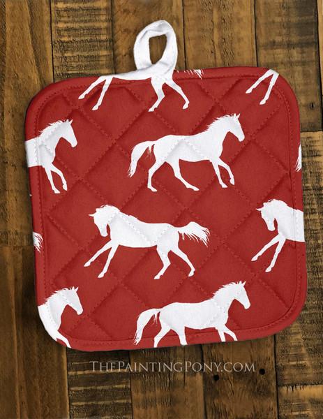 Galloping Horse Pattern Pot Holder