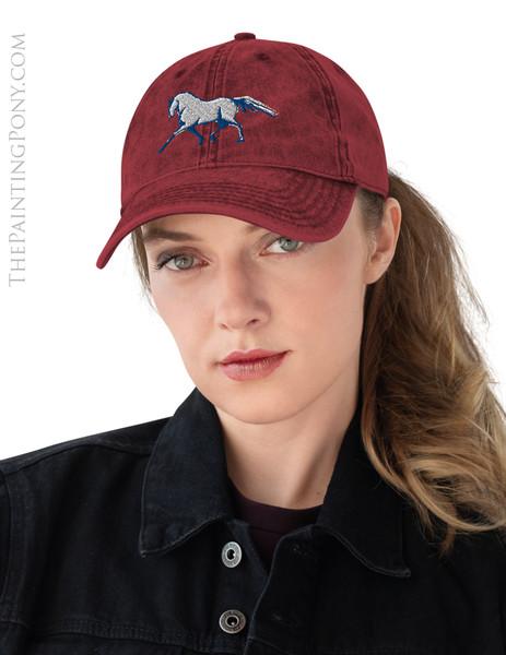 Dressage Horse Equestrian Emroidered Hat