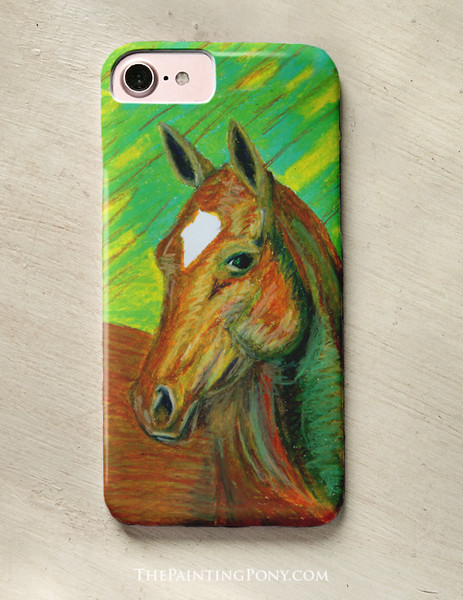 Chestnut Horse Head Art Equestrian Phone Case