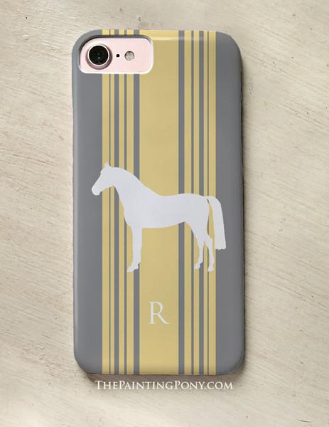 Classic Horse Personalized Equestrian Phone Case