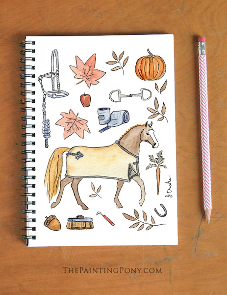 Fall Favorites Equestrian Themed Spiral Notebook