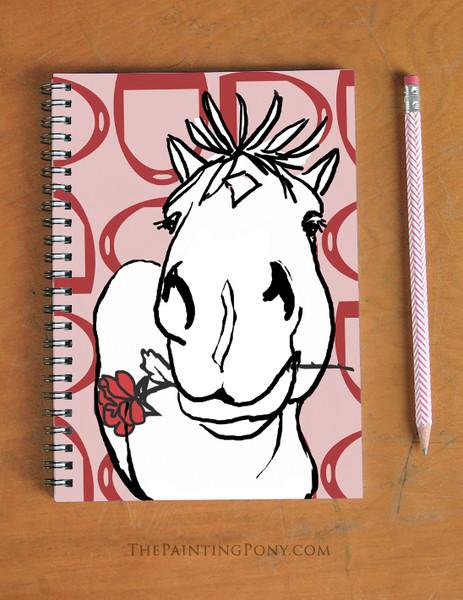 Valentine Rose Pony Spiral Notebook