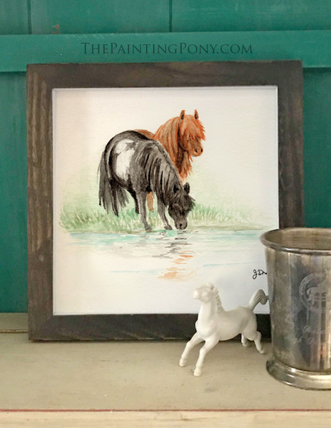 """Watercolor Pony Painting """"A Passing Memory"""" Art Print"""