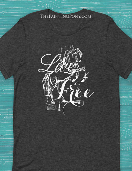 Live Free Rearing Horse Equestrian Tee T-Shirt
