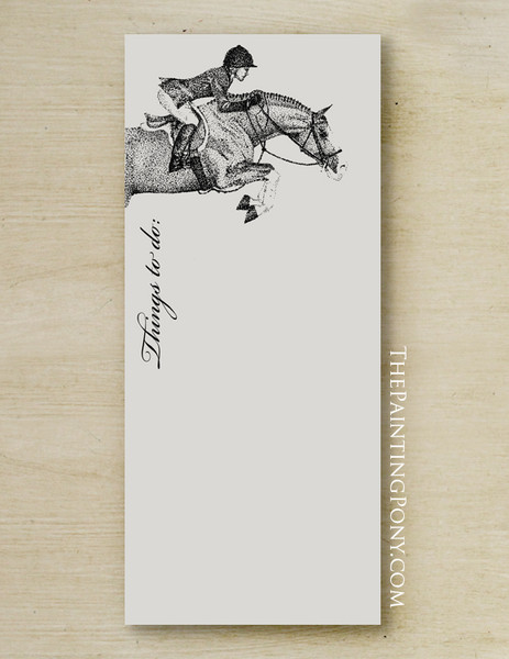 Hunter Jumper Horse Personalized Equestrian Notepad