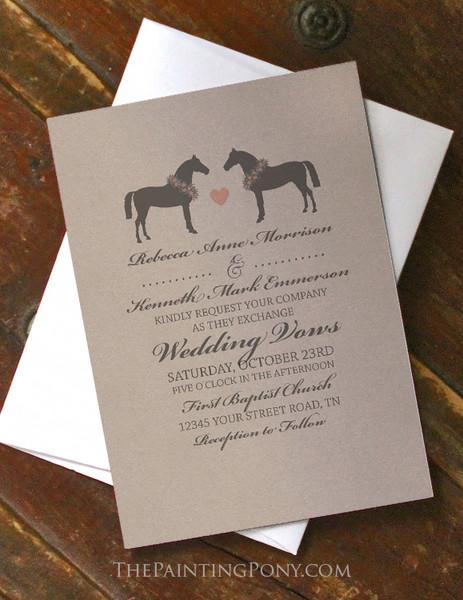 Whimsical Horses Wedding Invitation (10 pk)