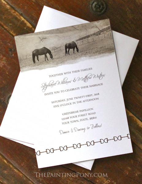 Country Farm Equestrian Wedding Invitation (10 pk)