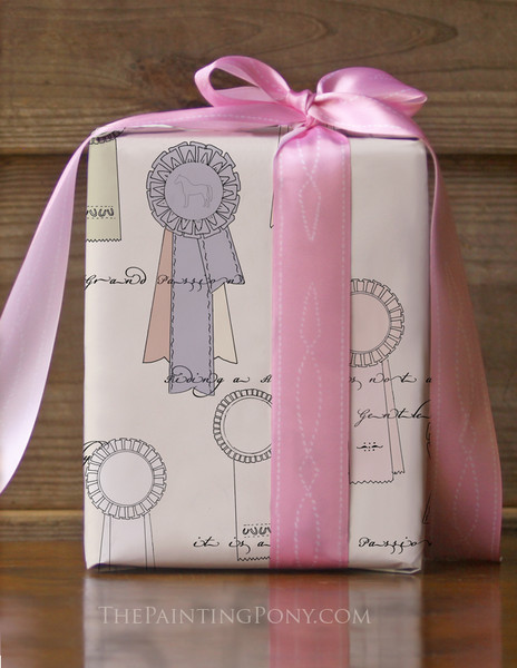 Show Ribbons Equestrian Gift Wrapping Paper