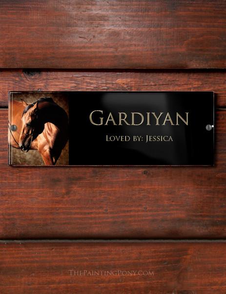 Custom Full Color Acrylic Horse Stall Name Plate