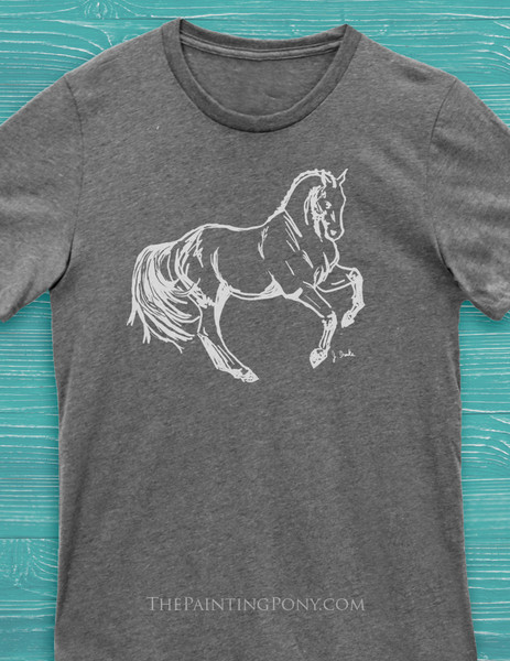 Dressage Horse Equestrian Adult T-Shirt