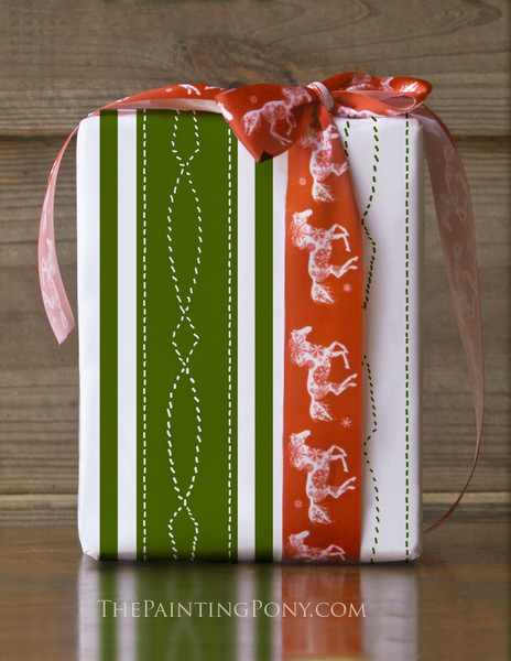 Horse Bridle Pattern Equestrian Gift Wrapping Paper