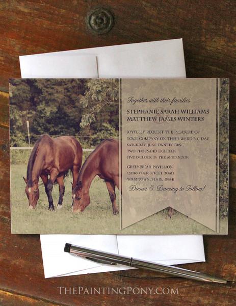 Country Horses Wedding Invitation (10 pk)