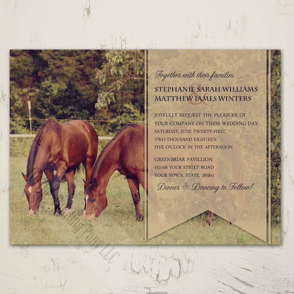 Country Horses Wedding Invitation
