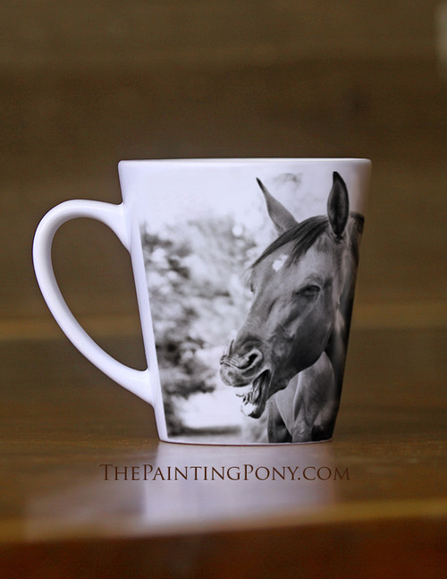 Laughing Horse Equestrian Latte Mug The Painting Pony
