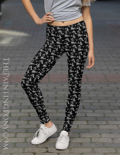 Jumping Horse Equestrian Leggings The Painting Pony