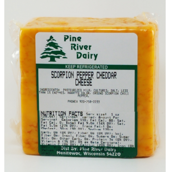 Scorpion Pepper Cheddar Cheese
