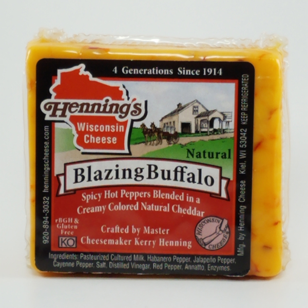 Henning's Blazing Buffalo Cheddar Cheese