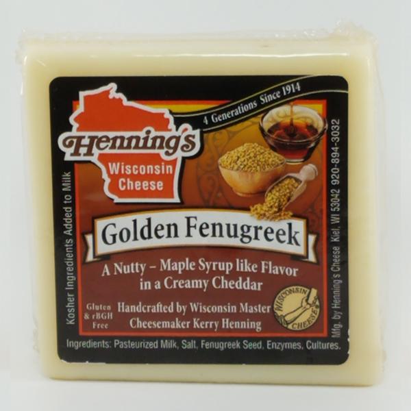 Henning's Golden Fenugreek Cheddar Cheese