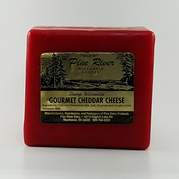 Pine River Sharp Gourmet Red Wax Cheddar Cheese - 1lb