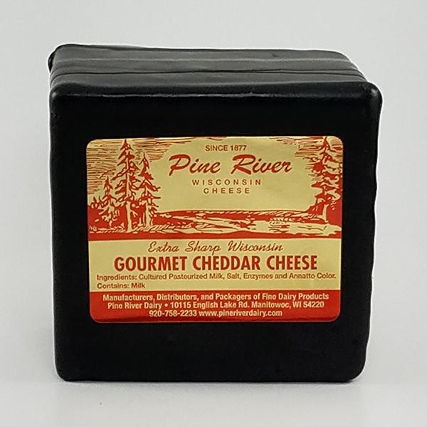 Pine River Extra Sharp Gourmet Black Wax Cheddar Cheese - 1lb