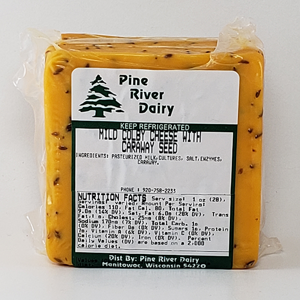 Mild Colby Cheese with Caraway Seed