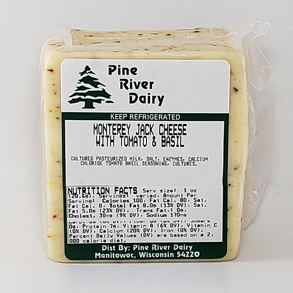 Monterey Jack Cheese With Tomato & Basil