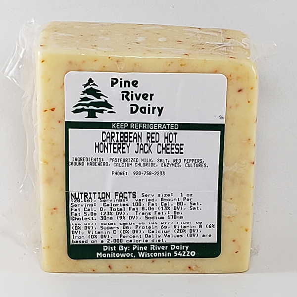 Caribbean Red Hot Monterey Jack Cheese