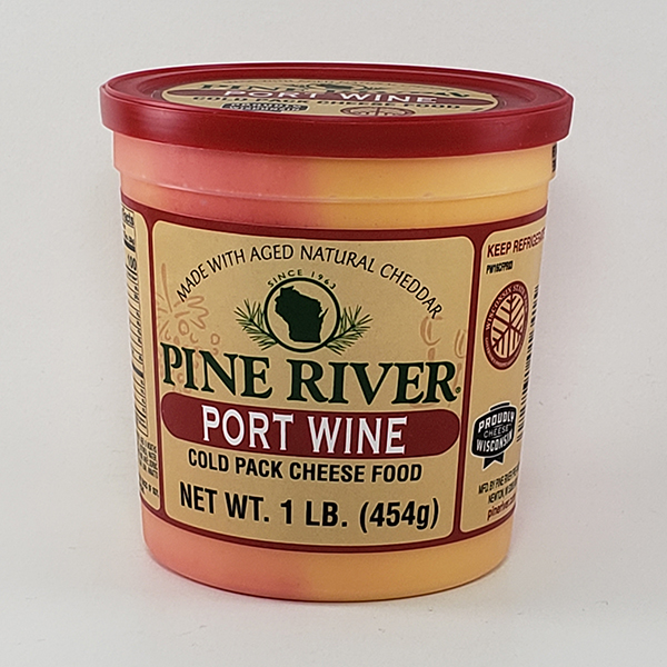 Pine River Port Wine Cheese Spread - Large