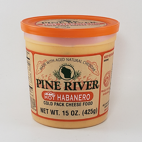 Pine River Hot Habanero Cheese Spread - Large
