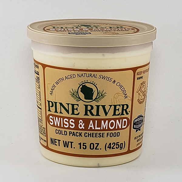 Pine River Swiss & Almond Cheese Spread - Large