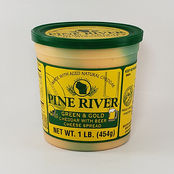 Pine River Green & Gold Cheese Spread with Beer- Large