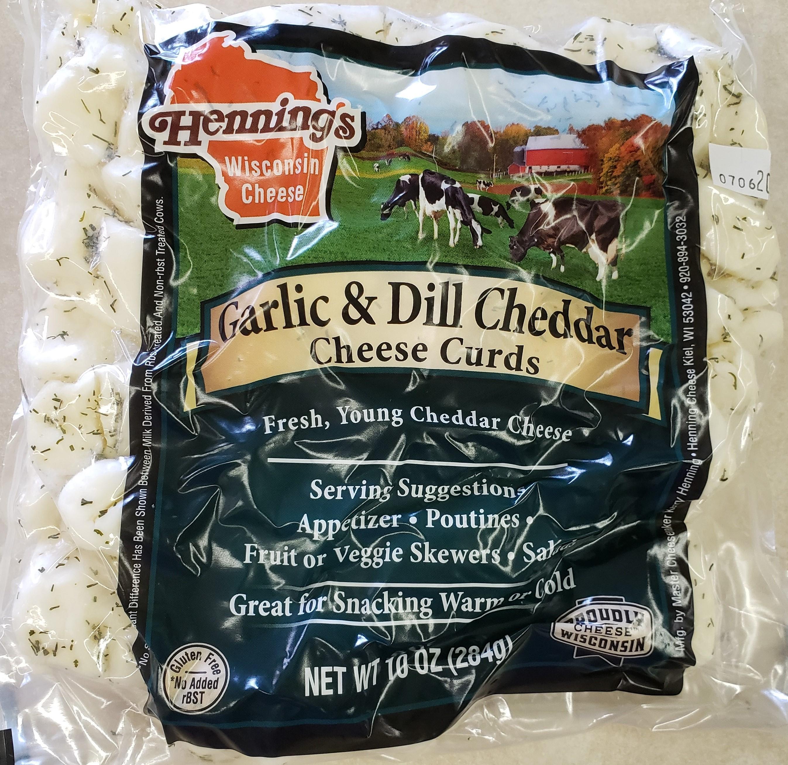 Henning's Garlic & Dill Cheese Curds