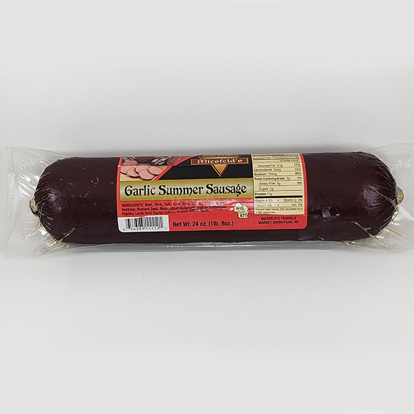 Miesfeld's Garlic Summer Sausage - 24oz