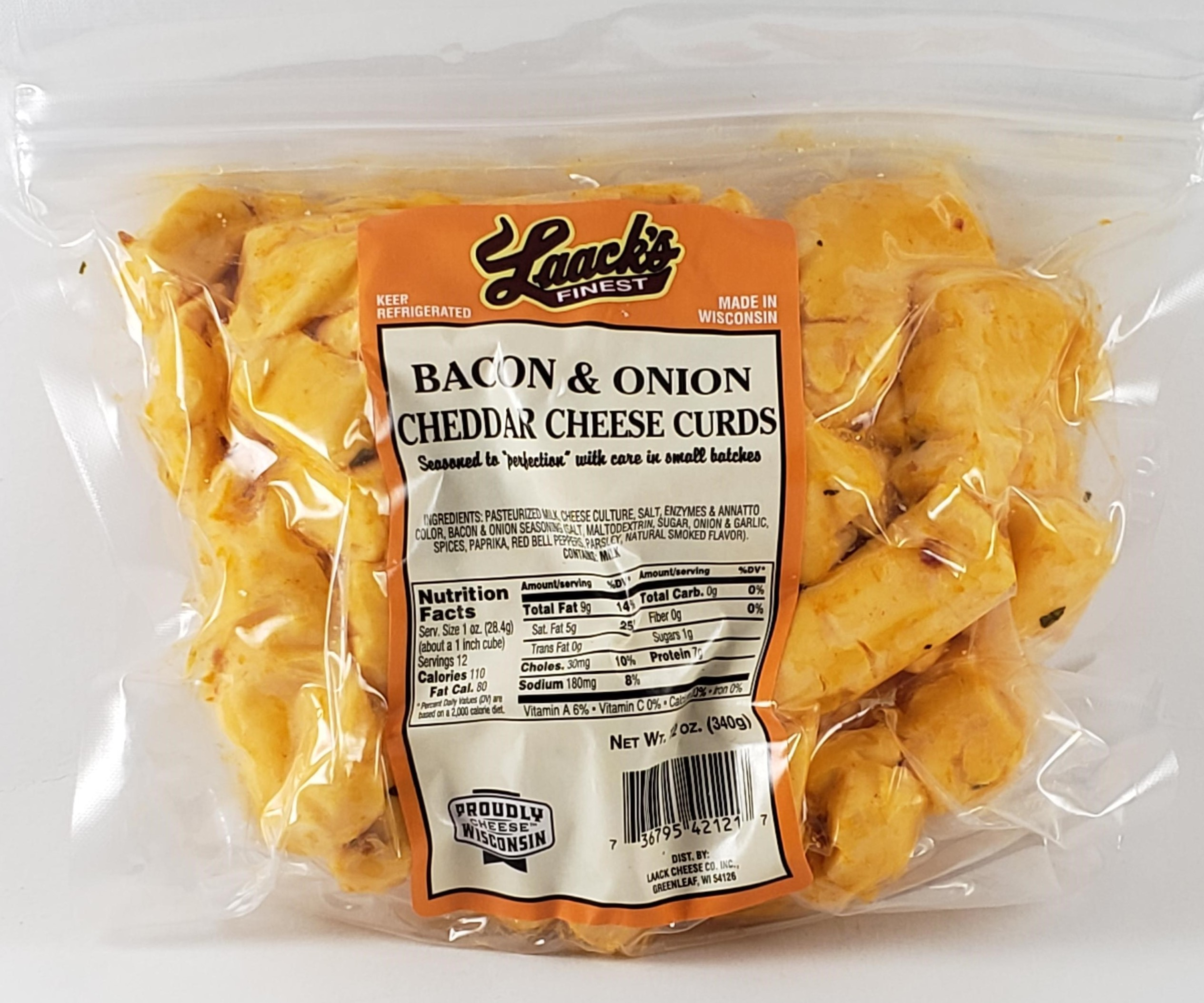 Bacon & Onion Cheddar Cheese Curds
