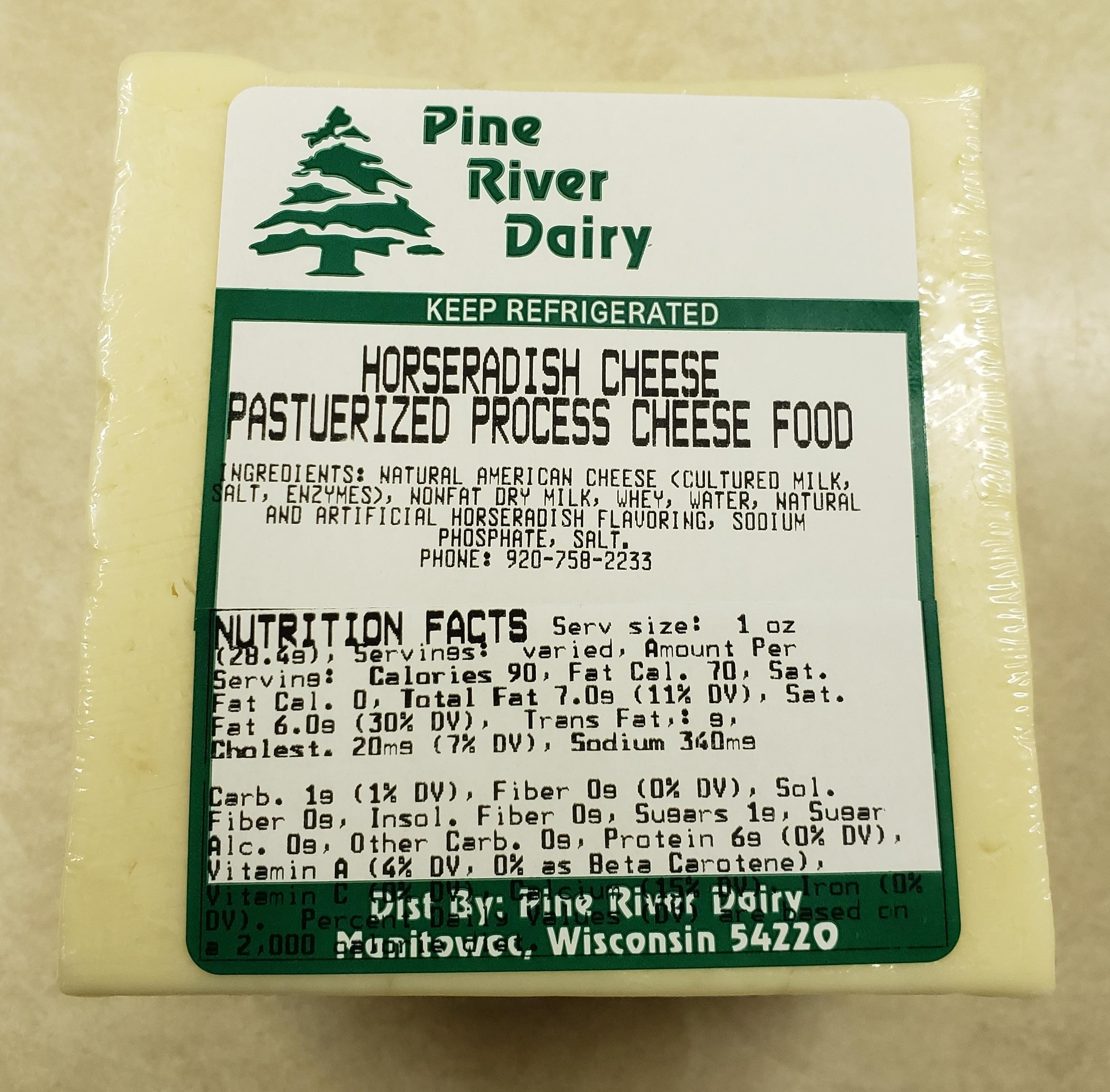 Horseradish Process Cheese Food