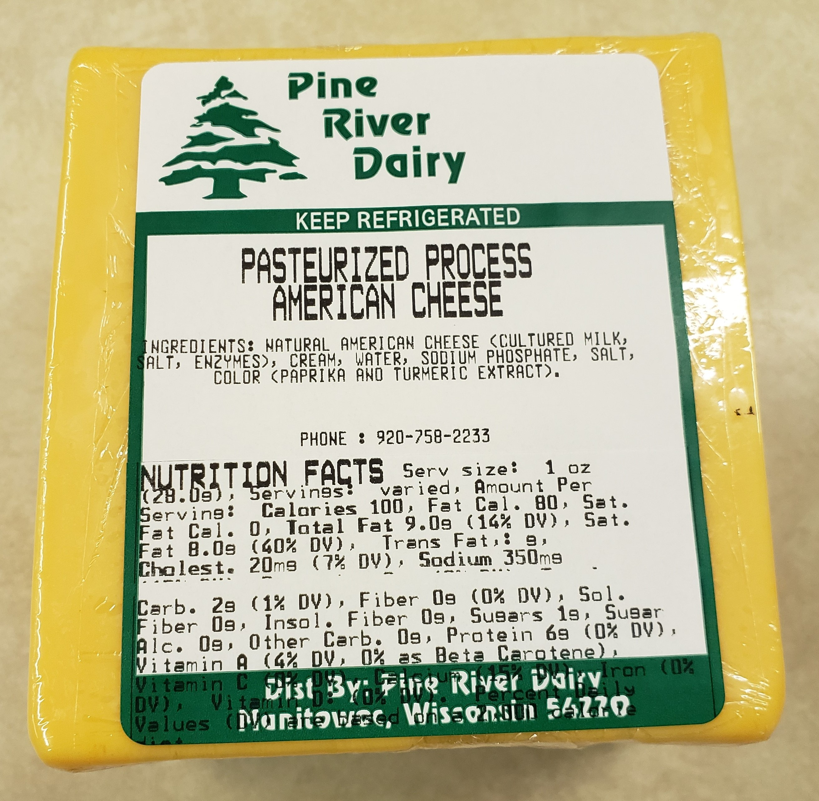 Process American Cheese Food