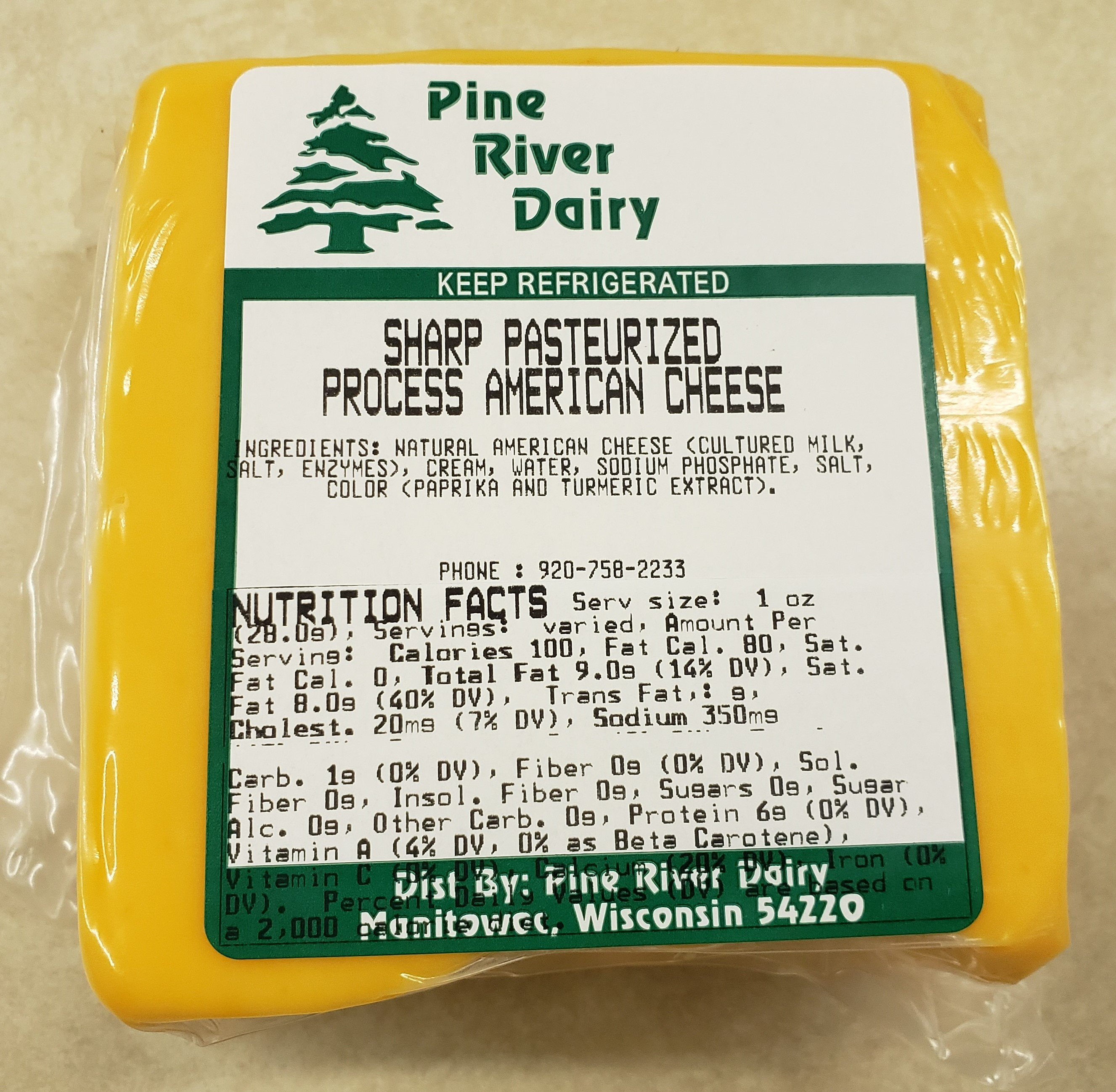 Sharp Process American Cheese Food