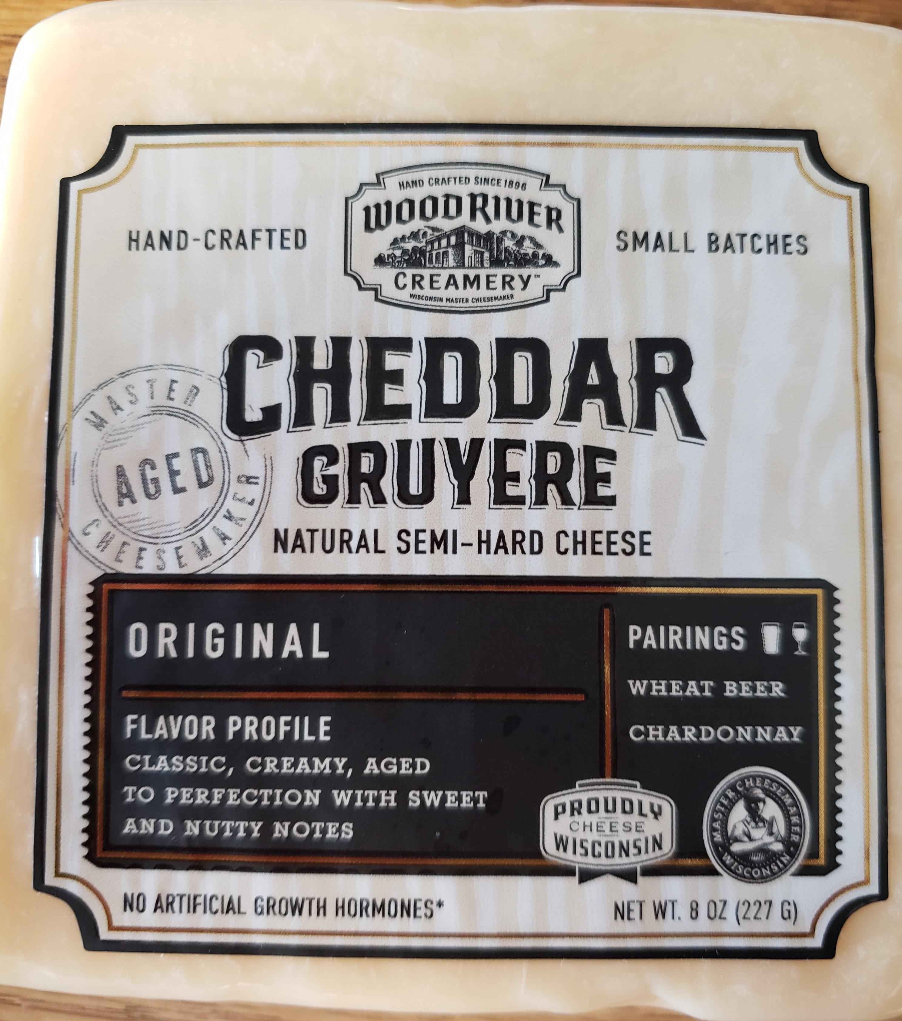 Wood River Creamery Cheddar Gruyere