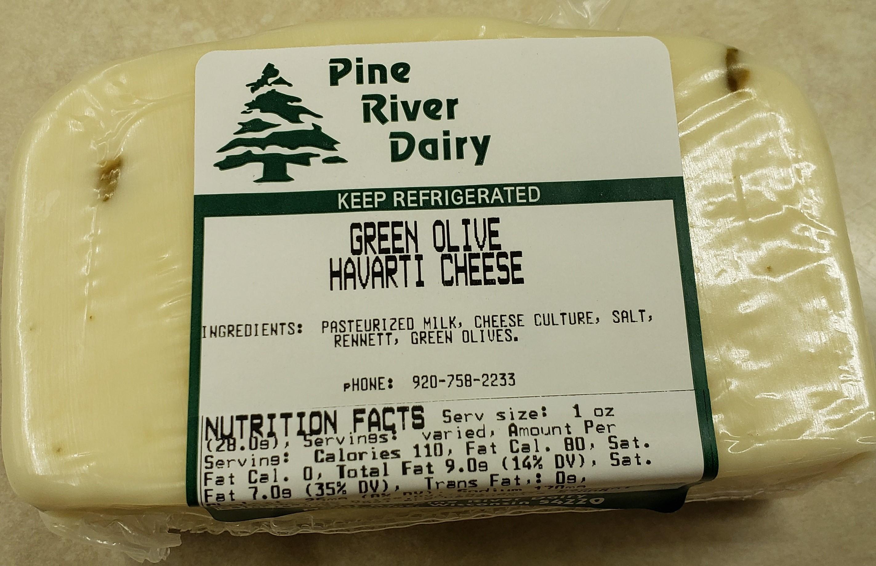 Green Olive Havarti Cheese