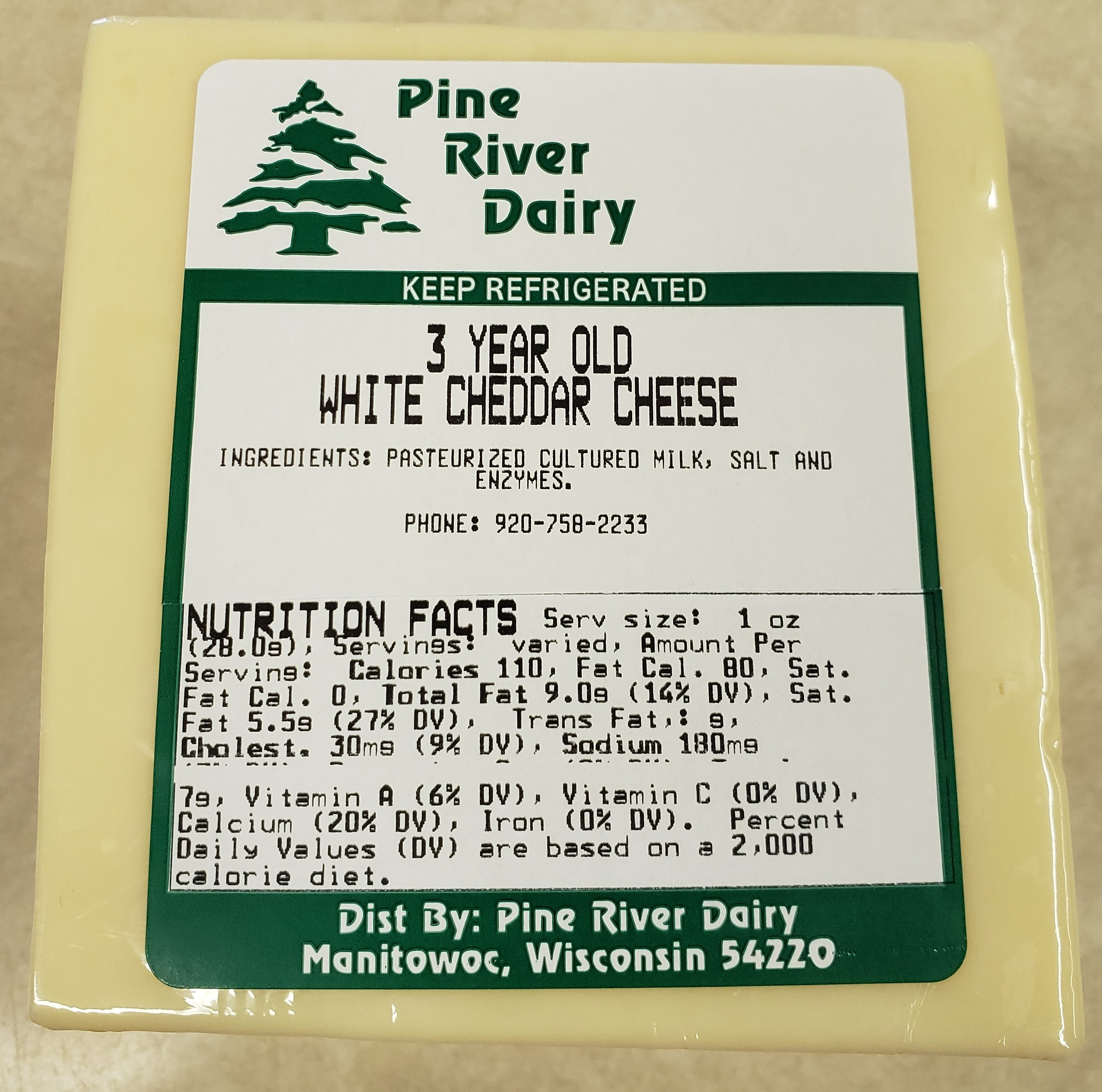 3 Year Old White Cheddar Cheese