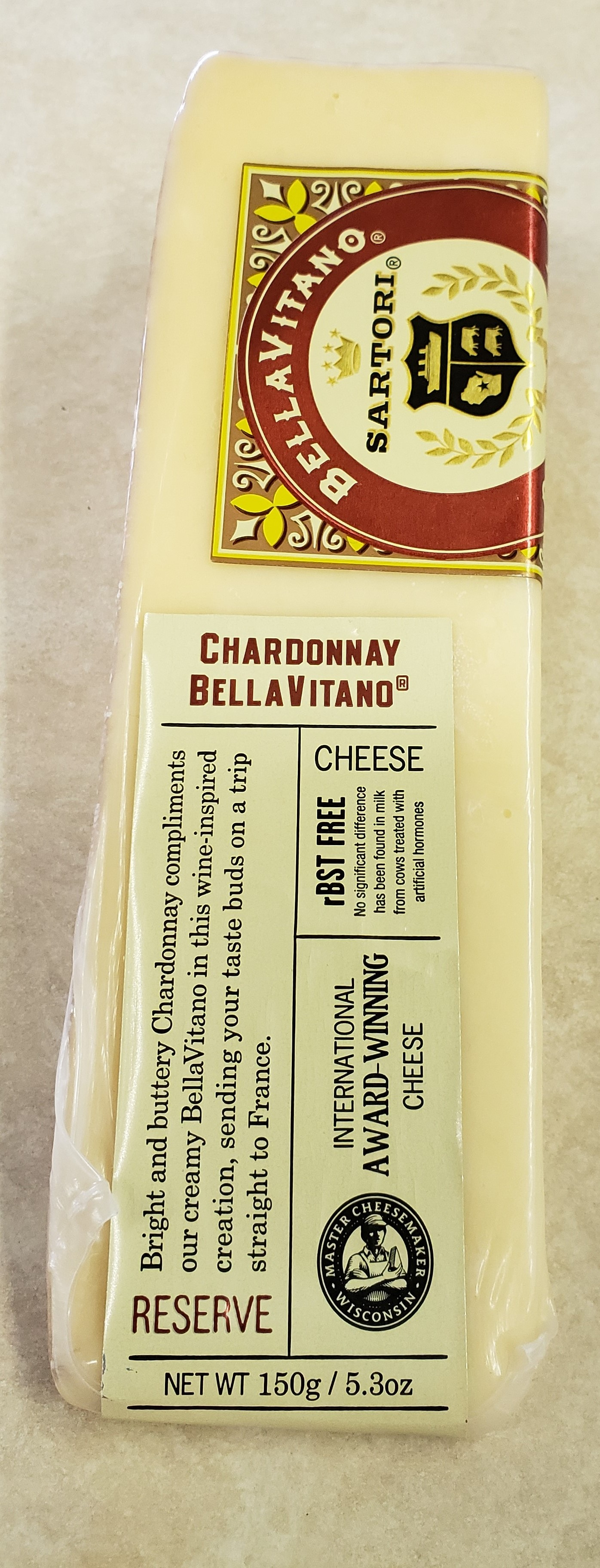 Sartori Chardonnay Bellavitano Wedge