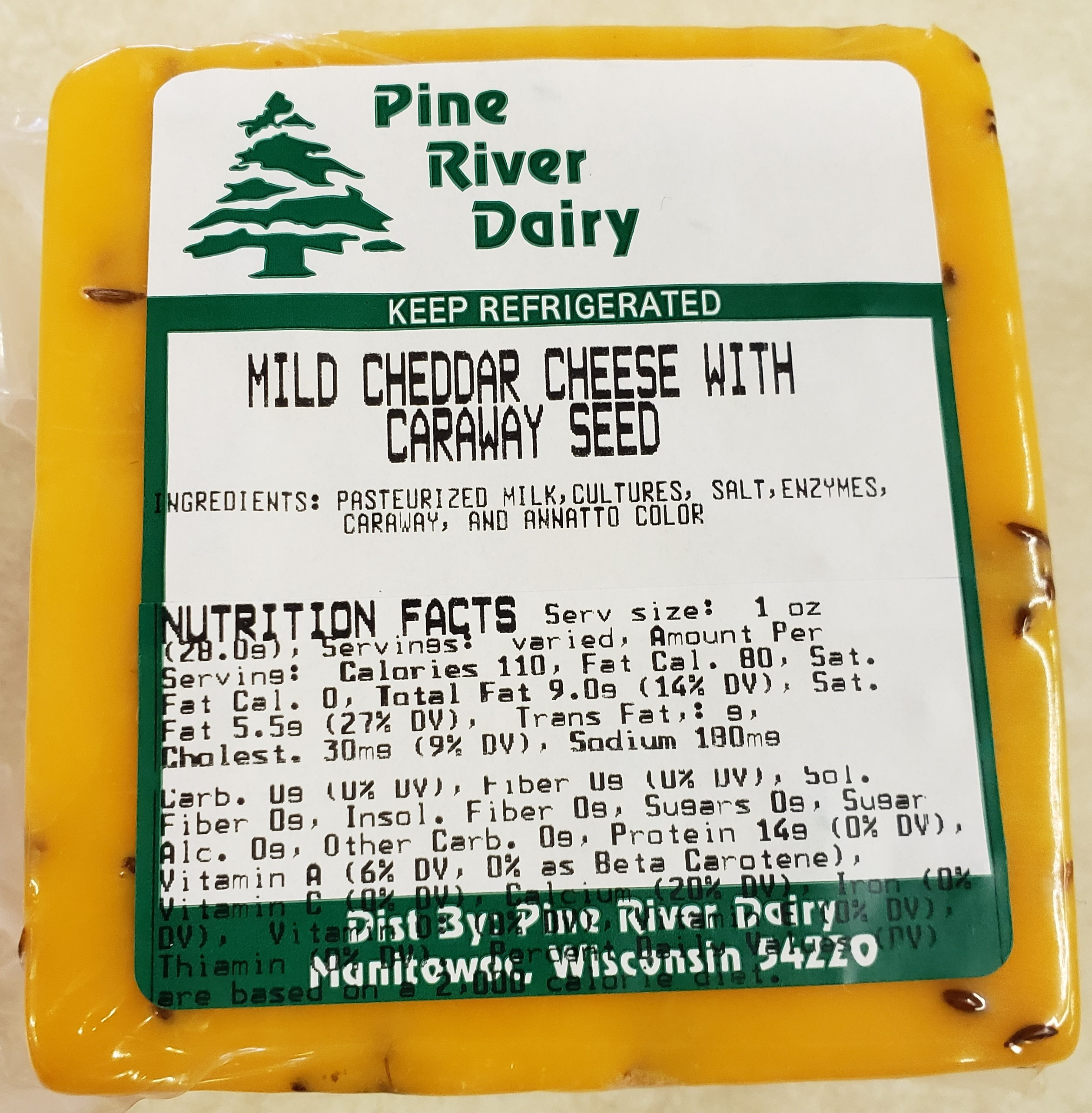 Mild Cheddar with Caraway